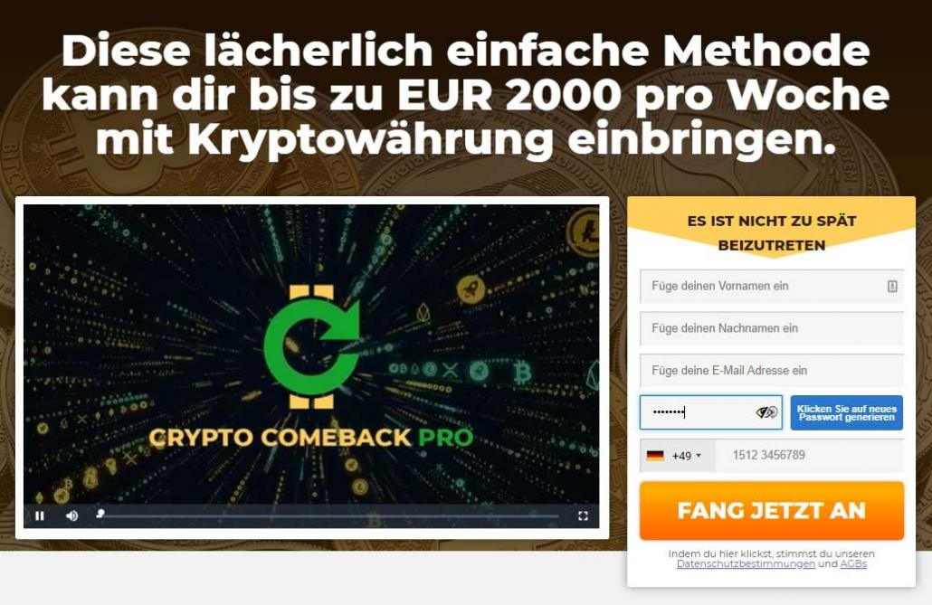 Crypto Comeback Erfahrungen