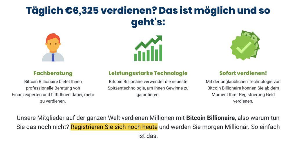 Bitcoin Billionaire Wie funktioniert es