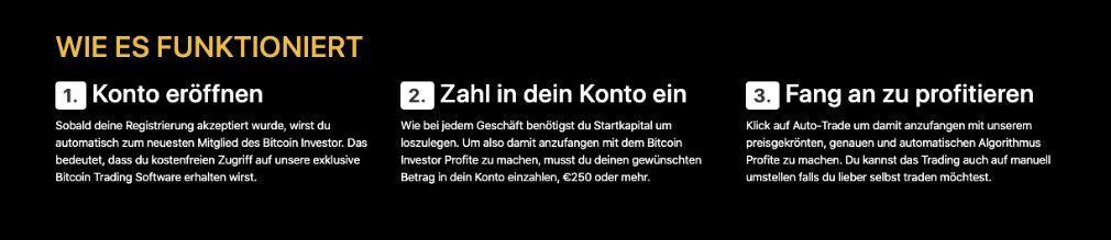 Bitcoin Investor Wie funktioniert es