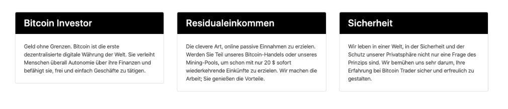 Bitcoin Investor Vorteile