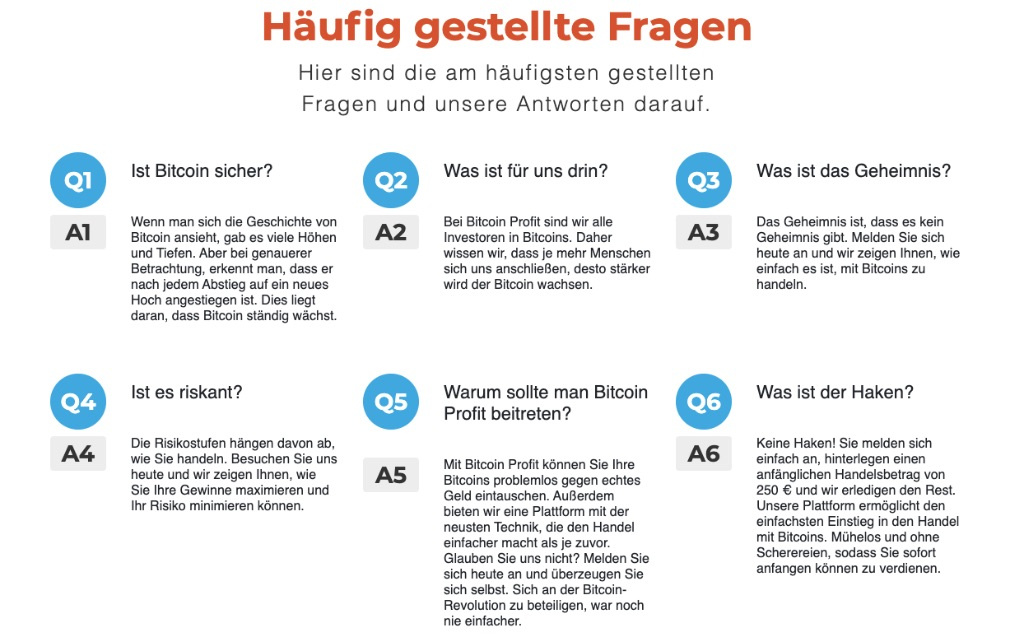 Bitcoin Profit FAQ