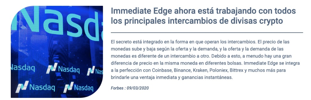 Immediate Edge informacion