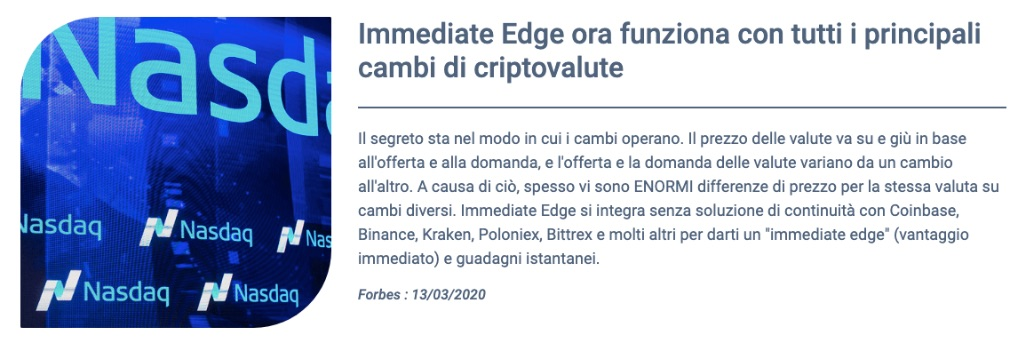 Immediate Edge benefici