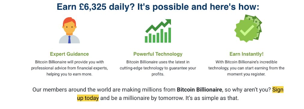 Bitcoin Billionaire framgång