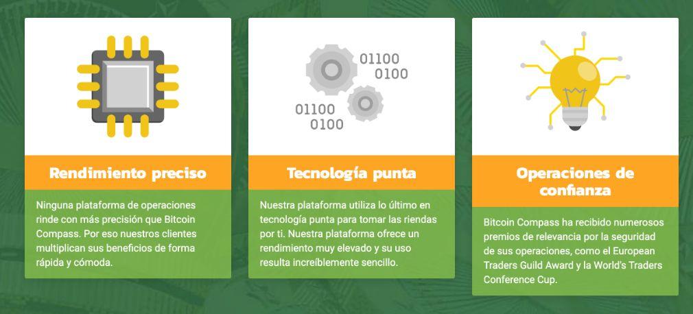 Bitcoin Compass Ventajas
