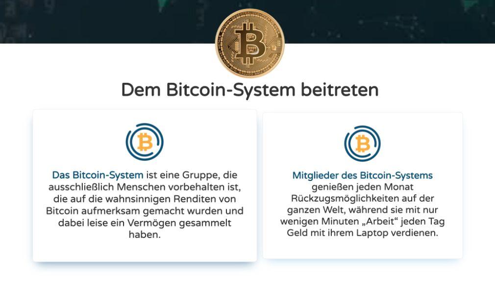Bitcoin System Vorteile