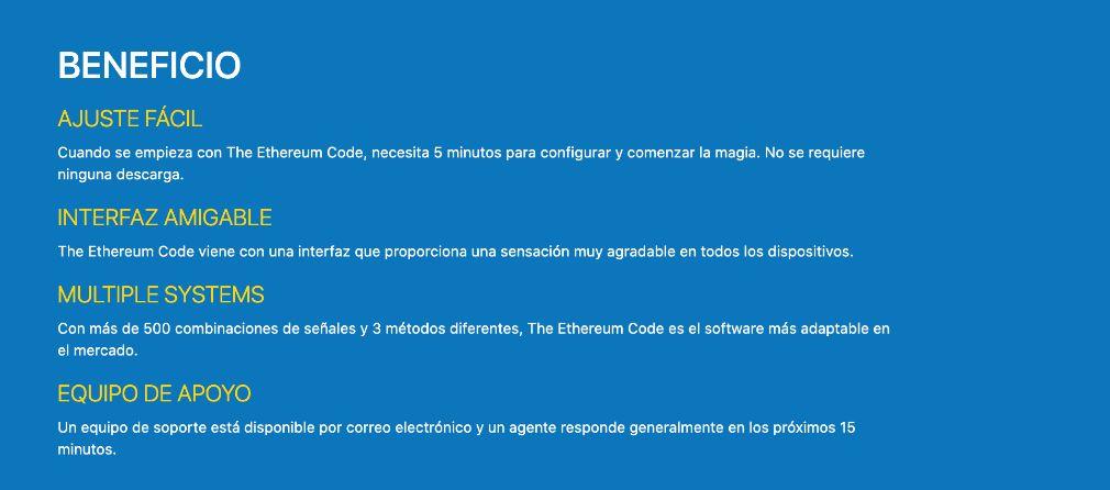 Ethereum Code éxito
