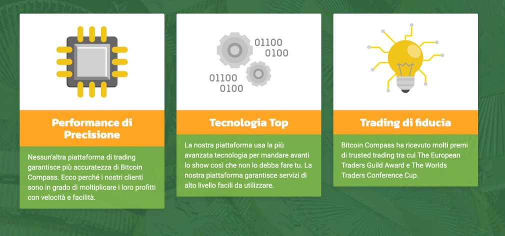 Bitcoin Compass benefici