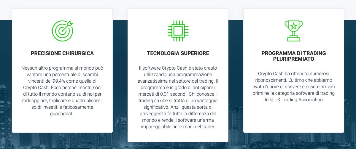 Crypto Cash benefici