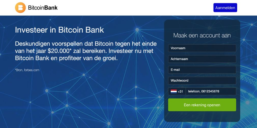 Bitcoin Bank ervaringen