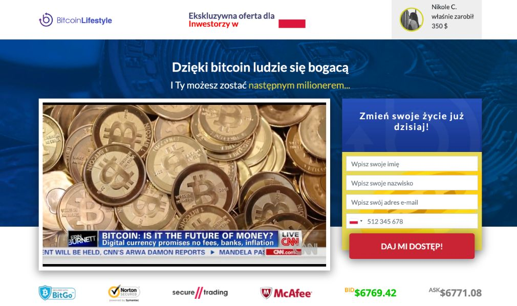 Bitcoin Lifestyle Opinie