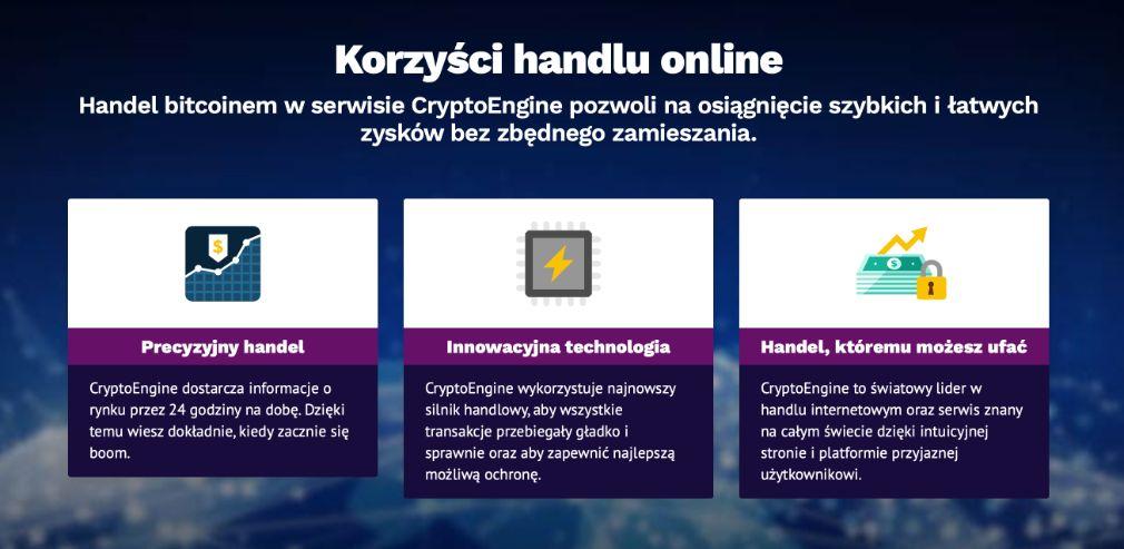 Crypto Engine korzyść