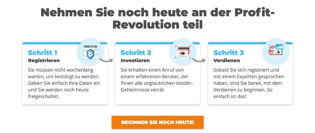 Profit Revolution Registrierung