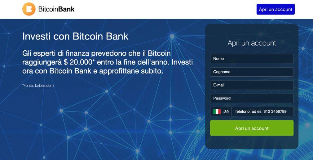 Bitcoin Bank Recensioni