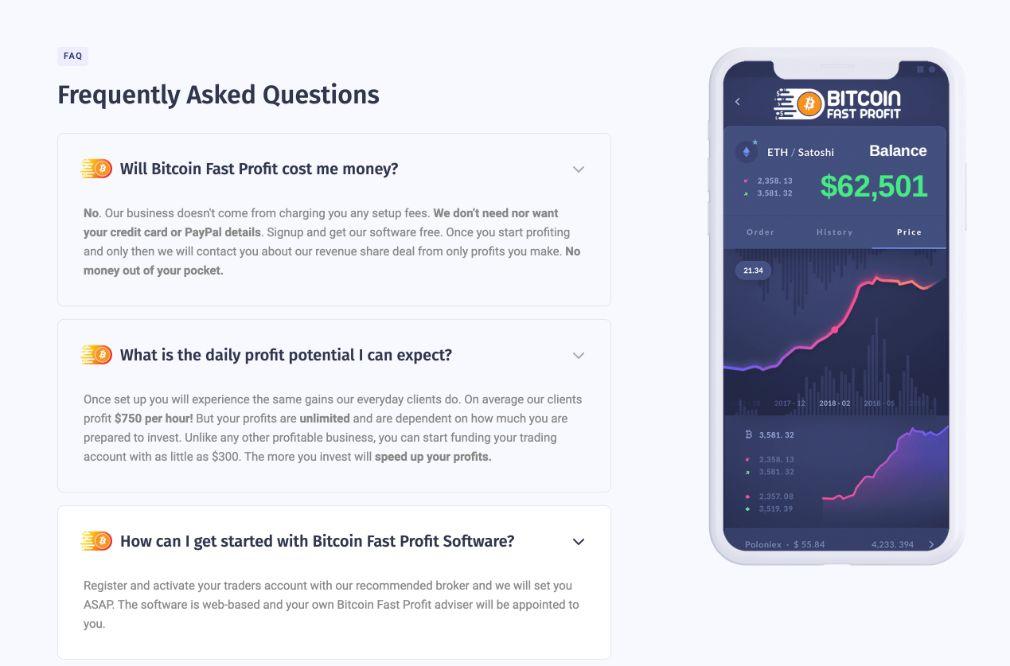 Bitcoin Fast Profit FAQ