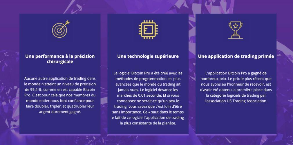 Bitcoin Pro avantage