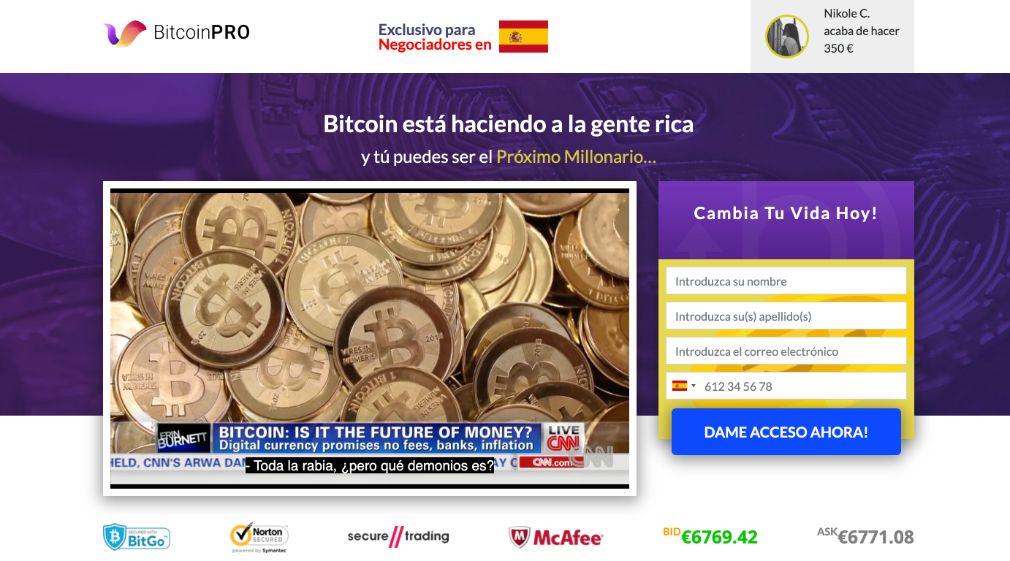 Bitcoin Pro opiniones