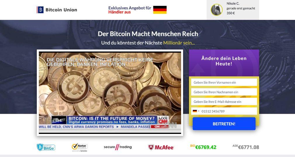 Bitcoin Union Erfahrungen & Test