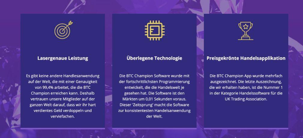 Bitcoin Champion Eigenschaften