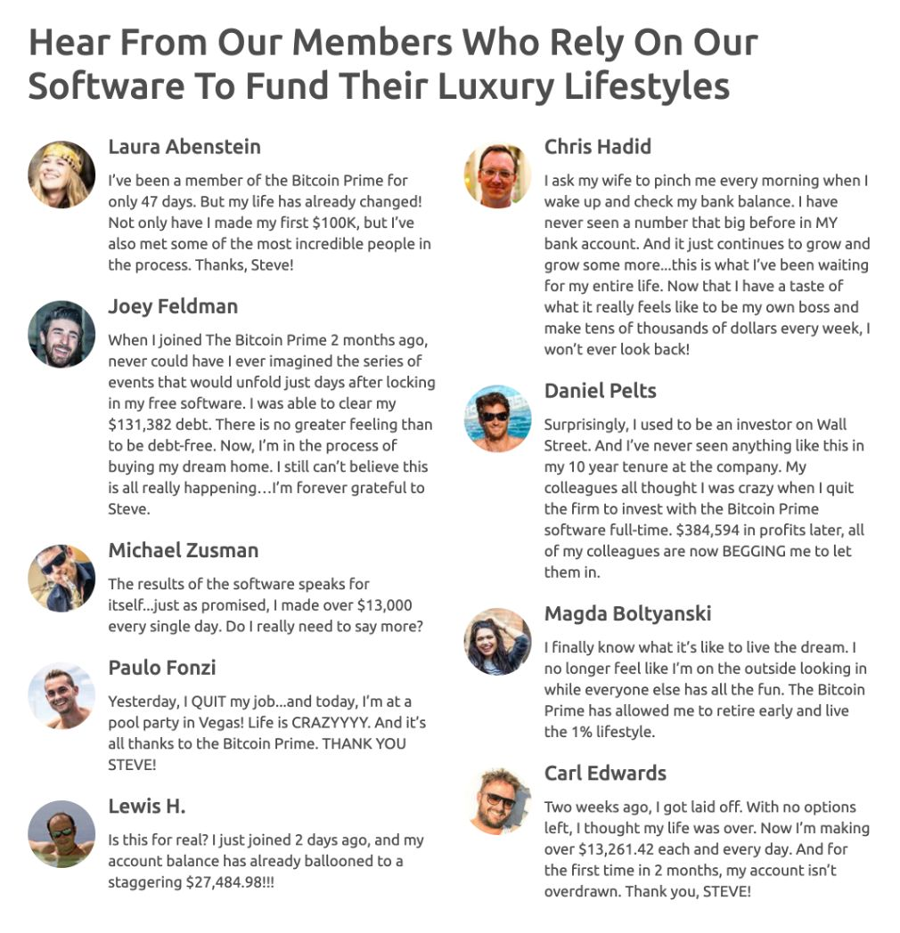 Bitcoin Prime members