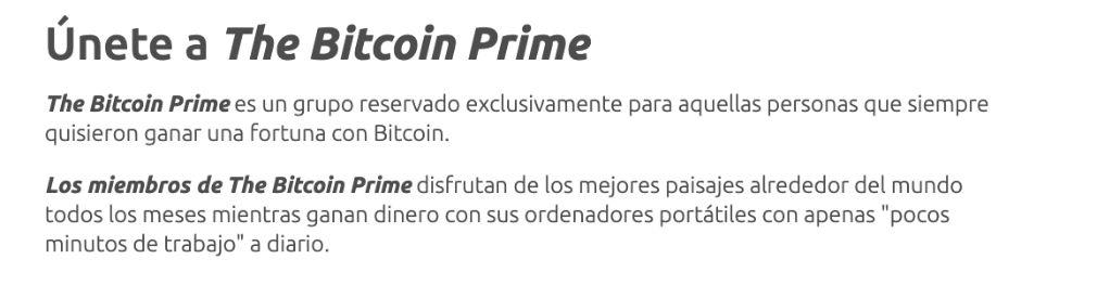 Bitcoin Prime Abrir una cuenta
