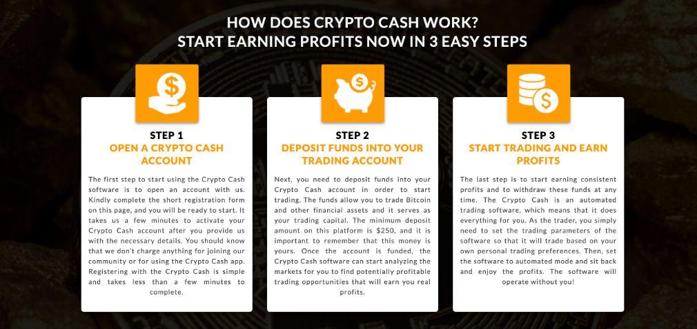 Crypto Cash open an account