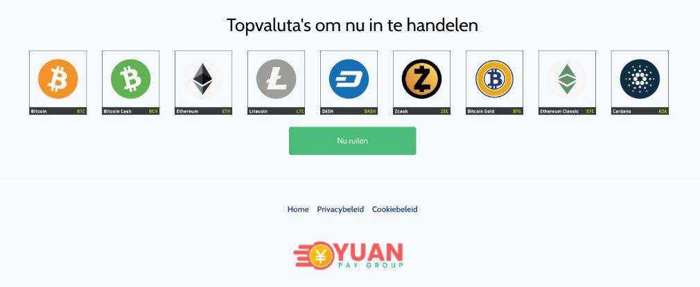 Yuan Pay Valuta's