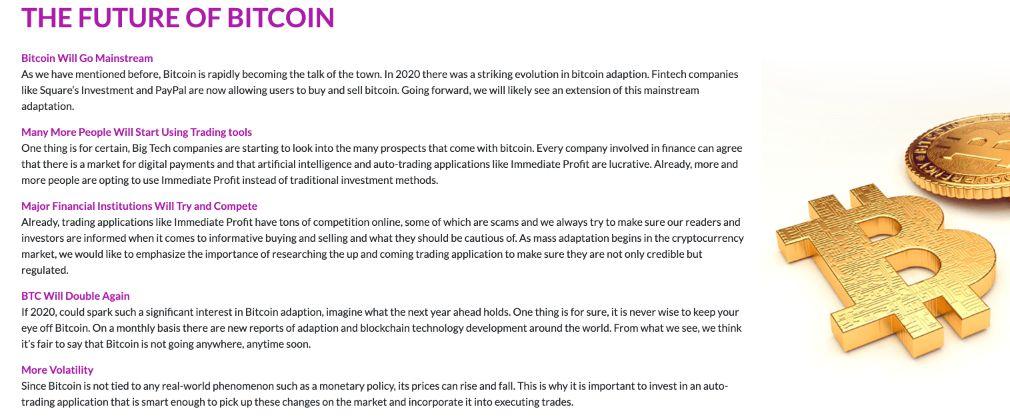 Immediate Profit - The Future of Bitcoin